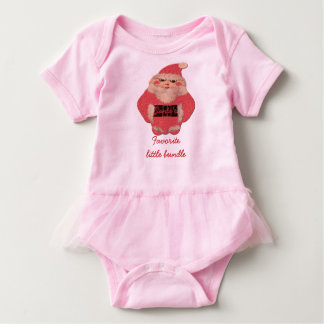 Santa's Favorite Little Bundle of Happiness Baby Bodysuit
