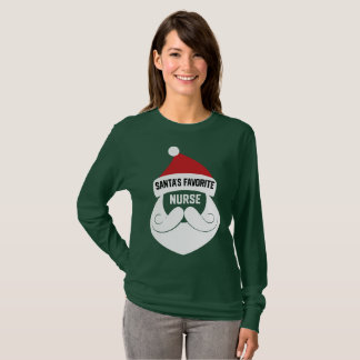 Santa's Favorite Nurse - Funny Christmas Nursing T-Shirt