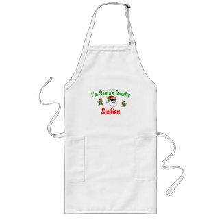 Santa's Favorite Sicilian Long Apron