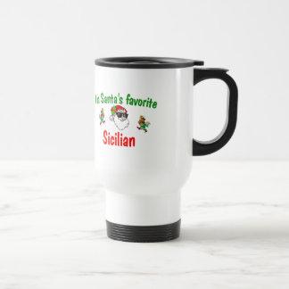 Santa's Favorite Sicilian 15 Oz Stainless Steel Travel Mug