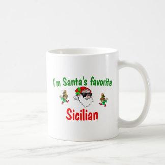 Santa's Favorite Sicilian Classic White Coffee Mug