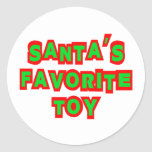 Santa's Favorite Toy Round Sticker