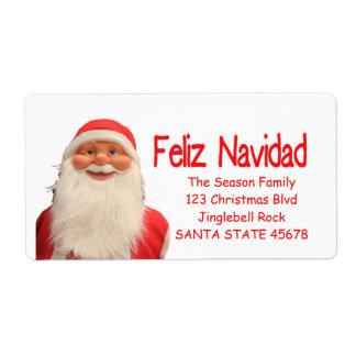 Santa's Feliz Navidad Christmas label