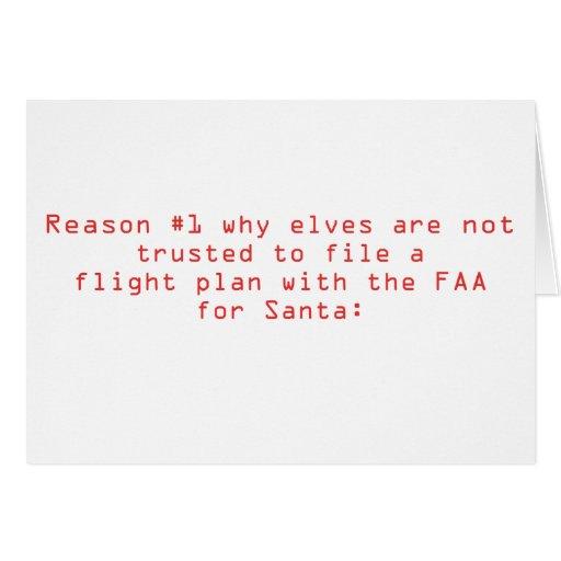 Santa's Flight Plan Card