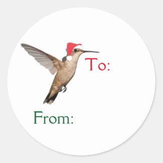 Santa's Flying Helper Classic Round Sticker