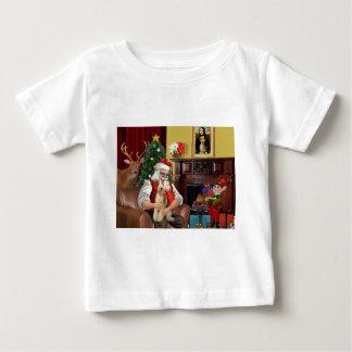 Santa's Fox Terrier (wire) Baby T-Shirt