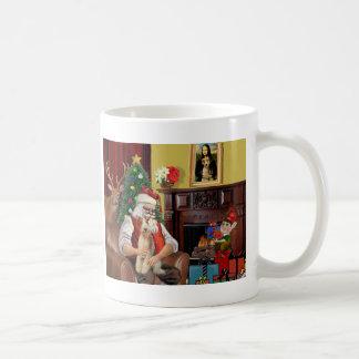 Santa's Fox Terrier (wire) Coffee Mugs