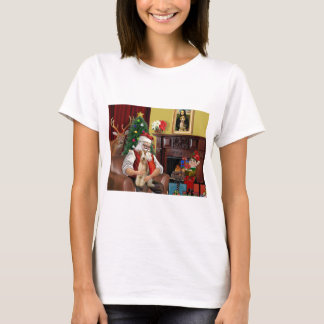Santa's Fox Terrier (wire) T-Shirt