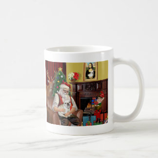 Santa's French Bulldog (fawn) Mugs