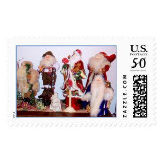 Santas From Around the World Postage