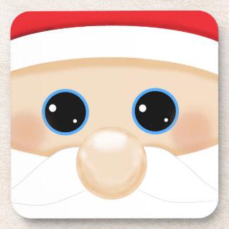 Santa's Funny Closeup Coasters