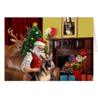 Santa's German Shepherd Card