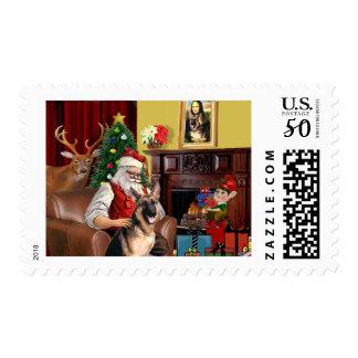 Santa's German Shepherd Postage
