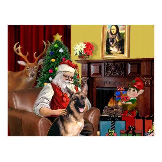 Santa's German Shepherd Postcard