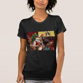 Santa's German Shepherd T-Shirt
