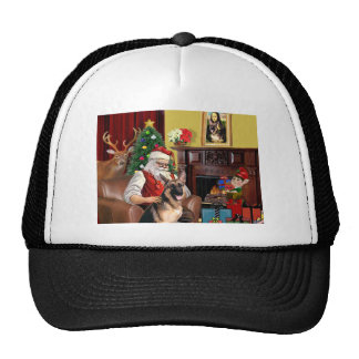 Santa's German Shepherd Trucker Hat