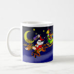 Santa's Gift Delivery with a Slingshot! Coffee Mug