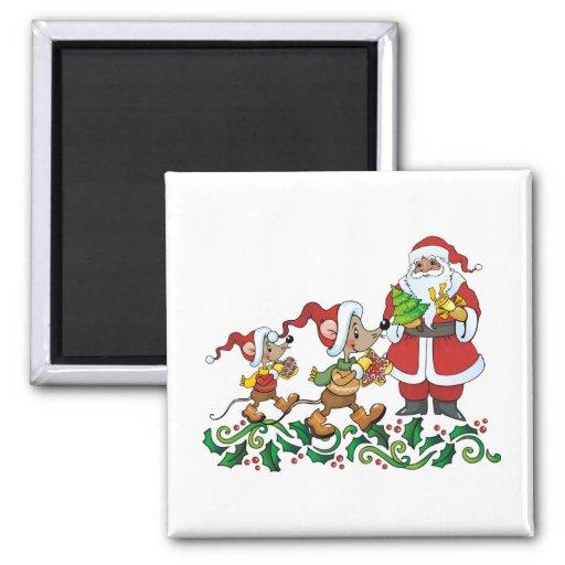 Santas Gift Fridge Magnet