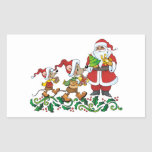 Santas Gift Rectangle Stickers