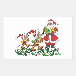 Santas Gift Rectangular Sticker