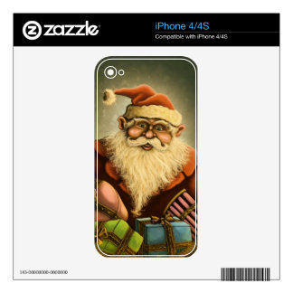 santas gifts holiday iPhone skin Skins For The iPhone 4