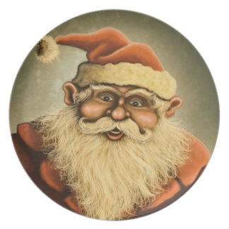 santas gifts holiday plate