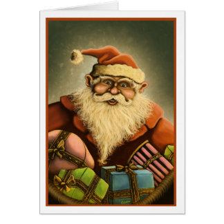 santa's gifts note card w basic edge