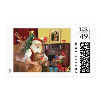 Santa's Golden Retriever (#12) Postage