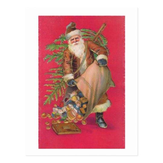 Santa's Goodies Postcard
