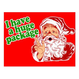 Santas Got a Huge Package Postcard