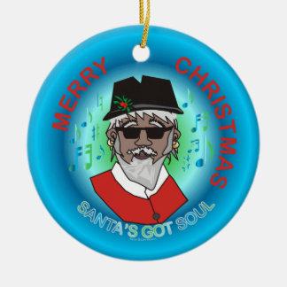 Santa's Got Soul Ceramic Ornament