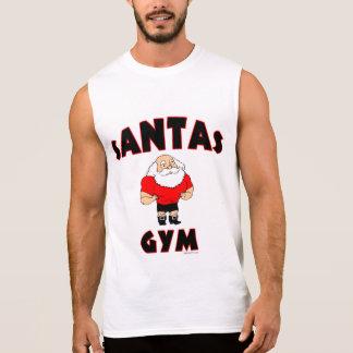 Santas Gym Sleeveless Shirts