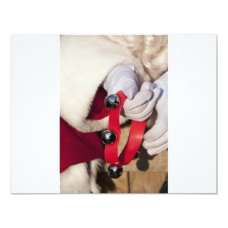 Santas Hands 4.25x5.5 Paper Invitation Card