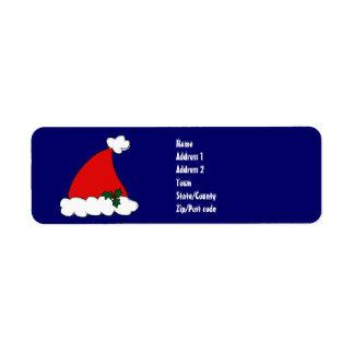 Santa's hat label