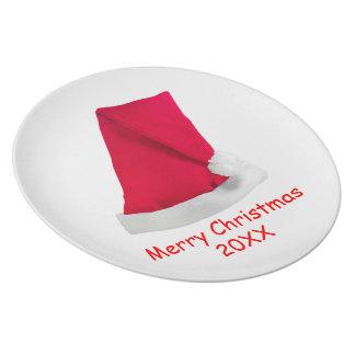 Santa's Hat Plate Template