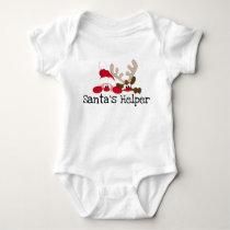 Santas Helper Baby Bodysuit