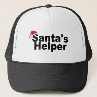Santas Helper Black Trucker Hat