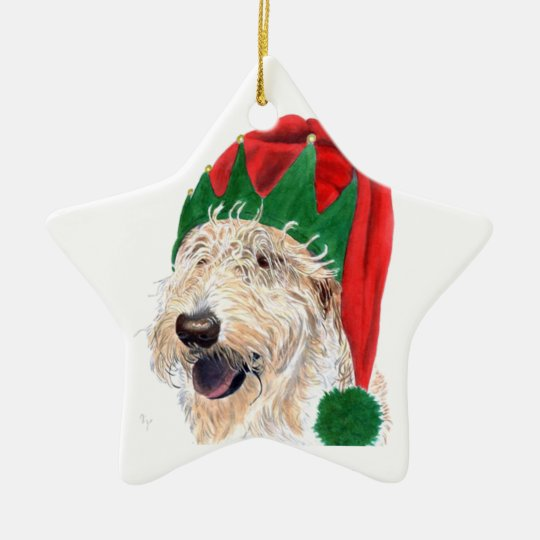 Santa's Helper Ceramic Ornament