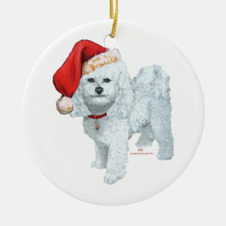 Santas Helper Ceramic Ornament