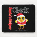 Santa's Helper Chick Mouse Pad