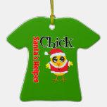 Santa's Helper Chick Ornament