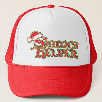 Santa's helper Christmas red and green hat