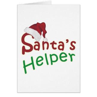 Santa's Helper Christmas Santa Hat Design Card