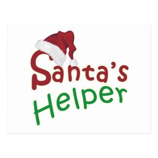 Santa's Helper Christmas Santa Hat Design Postcard