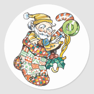Santa's Helper Christmas Stocking Stickers