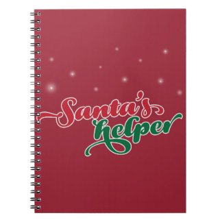 Santa's Helper. Christmas themed fun! Notebook
