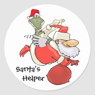 Santa's Helper Classic Round Sticker