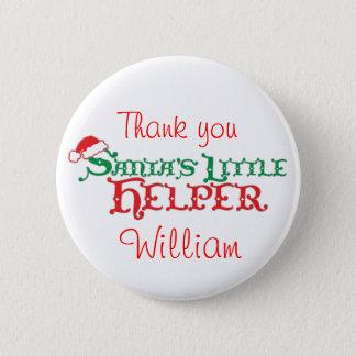 Santa's helper colourful christmas button/badge pinback button