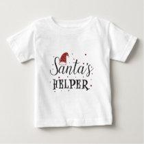 santas helper cute holiday baby T-Shirt