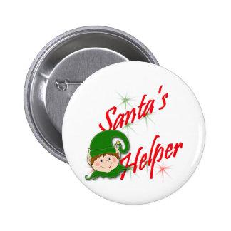 Santa's Helper Elf Button